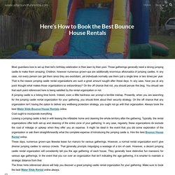 www.allaroundfunrental.com - Here's How to Book the Best Bounce House Rentals