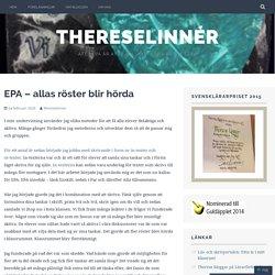 EPA – allas röster blir hörda – ThereseLinnér