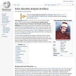 Tahir Allauddin Al-Qadri Al-Gillani