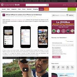 AllCast diffuse le contenu d'un iPhone sur le téléviseur