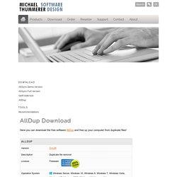 AllDup - Find Duplicate Music Files, Delete Duplicate Music Files