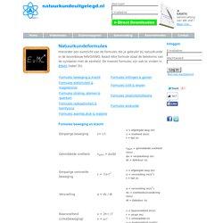 Alle natuurkundeformules HAVO/VWO