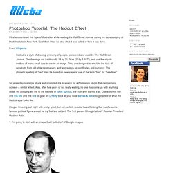 Blog » Photoshop Tutorial: The Hedcut Effect