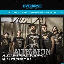 ALLEGAEON Reveal Album Release Date, First Music Video