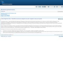 E-004429/2011 Règlement (CE) n° 1924/2006 concernant les allégations de santé - allégation «sans sucre ajouté»