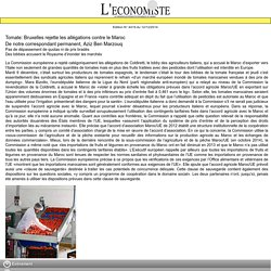 L ECONOMISTE 12/12/14 Tomate: Bruxelles rejette les allégations contre le Maroc