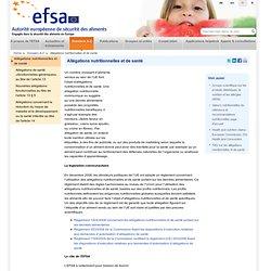 Dossier Allégations nutritionnelles et de santé