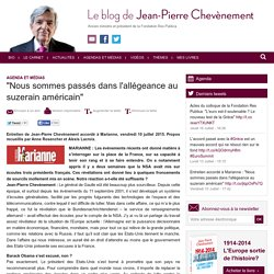 Blog de JP Chevènement