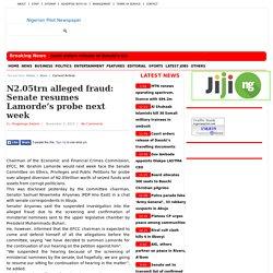N2.05trn alleged fraud: Senate resumes Lamorde's probe next week