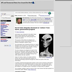 Secret data allegedly disclosed on 'visitors' from space, government projects