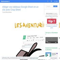 Alléger vos tableaux Google Sheet en un clic avec Crop Sheet