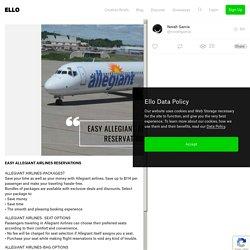 EASY ALLEGIANT AIRLINES RESERVA - novahgarcia