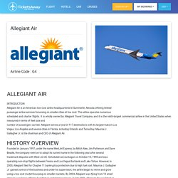 Allegiant Air Informations on booking, rebooking, contact, customer service