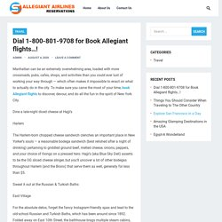 Dial 1-800-801-9708 for Book Allegiant flights…! – Allegiant Airlines Reservations