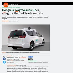 Google's Waymo sues Uber, alleging theft of trade secrets
