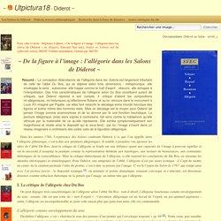 De la figure à l'image: l'allégorie dans les Salons de Diderot - Utpictura18 Diderot
