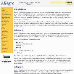 Allegro - Introduction -