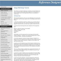 Allegro PCB Design Tutorials