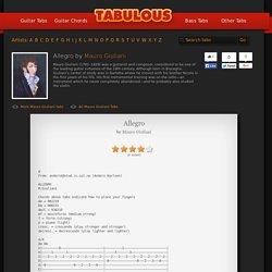 Allegro tab by Mauro Giuliani
