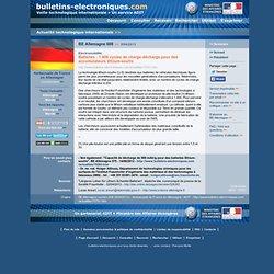 2013/04/05> BE Allemagne608> Batteries : 1.400 cycles de charge-décharge pour des accumulateurs lithium-soufre