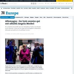 Allemagne: les trois années qui ont affaibli Angela Merkel