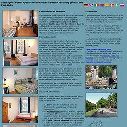 Appartement 4 pièces à Berlin Kreuzberg près du rive Paul-Linke