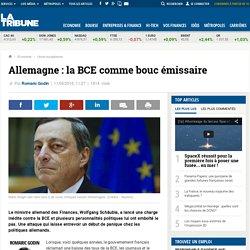 Allemagne: la BCE comme bouc émissaire