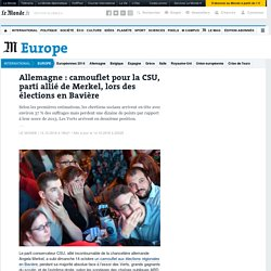 Allemagne: camouflet pour la CSU, parti allié de Merkel, lors des élections en Bavière