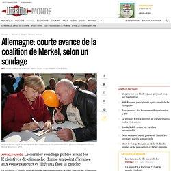 Allemagne: courte avance de la coalition de Merkel, selon un sondage