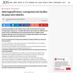 Allemagne/France : comparons les feuilles de paye des salariés
