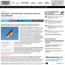 Allemagne : Generali lance l'assurance santé au comportement
