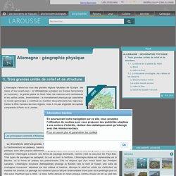 Allemagne : géographie physique