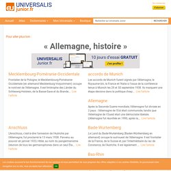 Allemagne, histoire