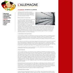 ALLEMAGNE - Histoire de l'Allemagne