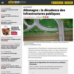 Allemagne : la décadence des infrastructures publiques
