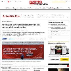 Allemagne: pourquoi l'instauration d'un salaire minimum inquiète