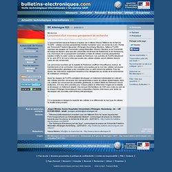 2013/08/06> BE Allemagne623> Lancement d'un nouveau groupement de recherche