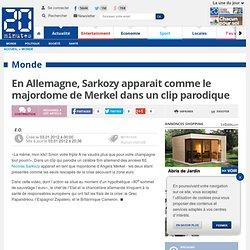 En Allemagne, Sarkozy apparait comme le majordome de Merkel dans un clip parodique