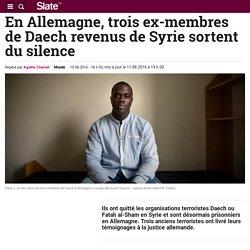 En Allemagne, trois ex-membres de Daech revenus de Syrie sortent du silence