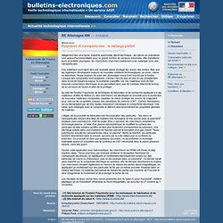 BE Allemagne 499 >> 7/10/2010 Matériaux - Polymères et nanoparticules : le mélange parfait