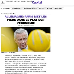 Allemagne: Paris met les pieds dans le plat sur l'économie