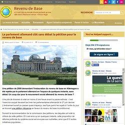 Allemagne: La pétition pour le revenu de base privée de débat parlementaire