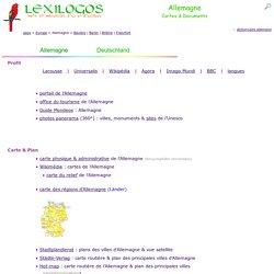 Carte Allemagne, histoire, patrimoine, documents en ligne LEXILOGOS