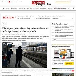 Allemagne: poursuite de la grève des chemins de fer après une victoire syndicale - LExpress.fr