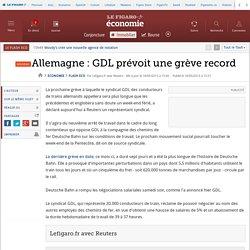 Allemagne : GDL prévoit une grève record