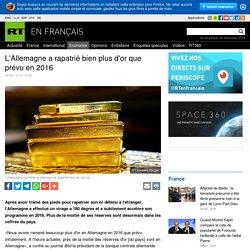 L'Allemagne a rapatrié bien plus d'or que prévu en 2016