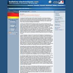 2008/12/10> BE Allemagne415> Quelle est la vraie toxicité de l'arsenic ?