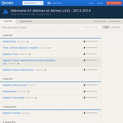Allemand A1 (6èmes et 4èmes LV2) - 2013-2014