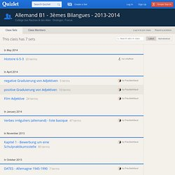 Allemand B1 - 3èmes Bilangues - 2013-2014
