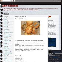 Brötchen / Petits pains